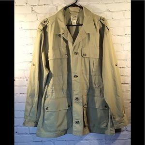 Travel Smith vintage men's safari cargo jacket XL.